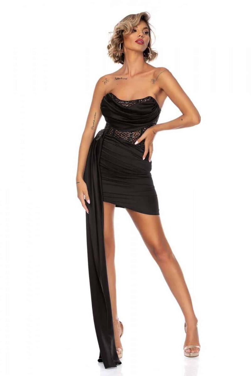 Elegante abito a tubino con fusciacca e spilla rimovibile
