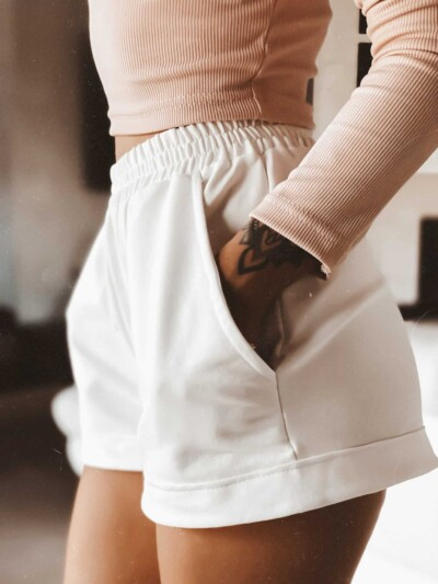 Pantaloncini leggermente elasticizzati